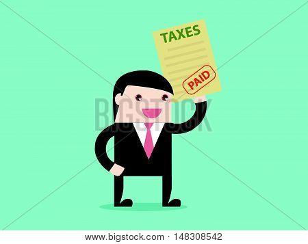 Businessman Paid Taxes
