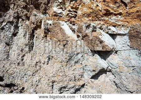Beach Erosion And Stone Dirt