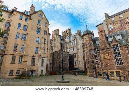 Lady Stairs Close In Edinburgh, Scotland