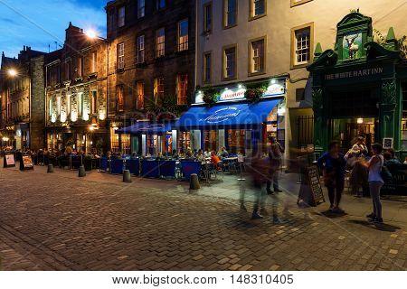 Restaurants At Grassmarket In Edinburgh
