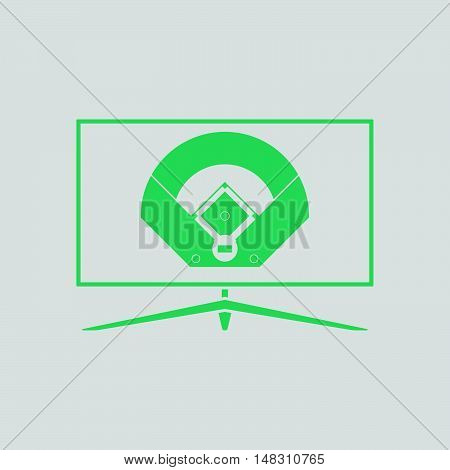 Baseball Tv Translation Icon