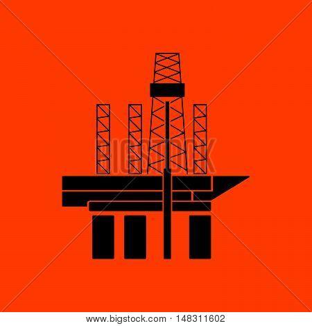 Oil Sea Platform Icon
