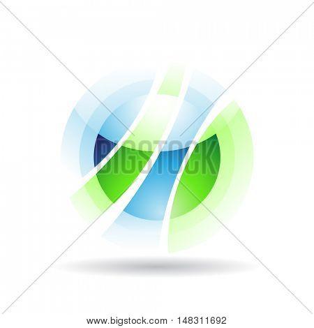 Transparent sphere icon and design element