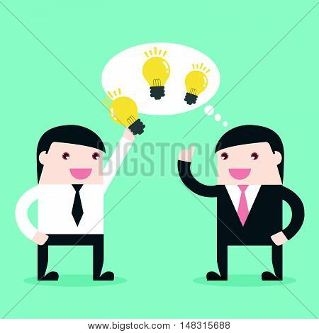 Businessman Share Idea
