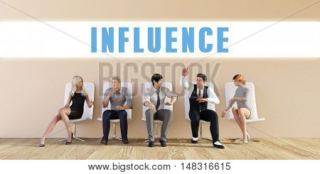 Business Influence Being Discussed in a Group Meeting
