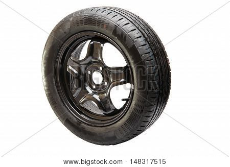 car wheel profile isolated on white background