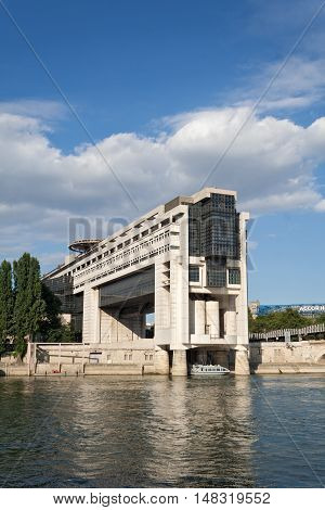 PARIS, FRANCE-AUGUST 09, 2016: building of the French Ministry of Economy and Finance in Paris