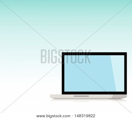 Minimal Laptop isolated incline 90 degree. Flat design for business financial marketing banking advertising commercial event in minimal concept cartoon illustration.