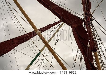 Yacht Rigging Sails And Mast Posts