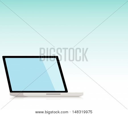 Minimal Laptop isolated incline 120 degree. Flat design for business financial marketing banking advertising commercial event in minimal concept cartoon illustration.