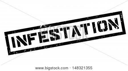 Infestation Rubber Stamp