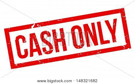 Cash Only Rubber Stamp