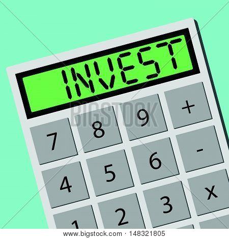 Invest Calculator Calculating Machine