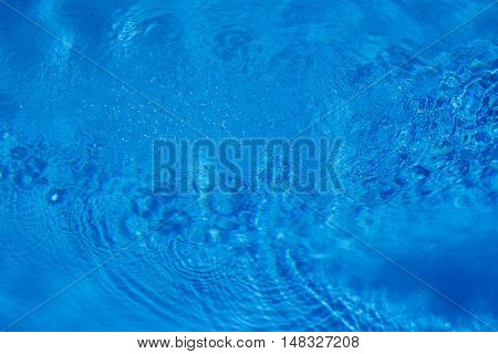 Swimming Pool Water Ripples And Waves