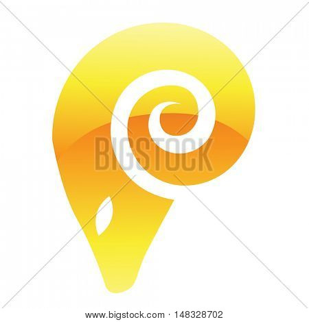 Illustration of Yellow Ram Icon isolated on a white background