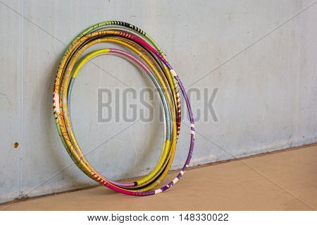 Hoop against a wall rhythmic gymnastics, sport