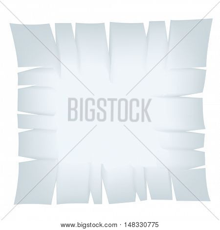 Illustration of Square Light Blue Torn Banner isolated on a white background