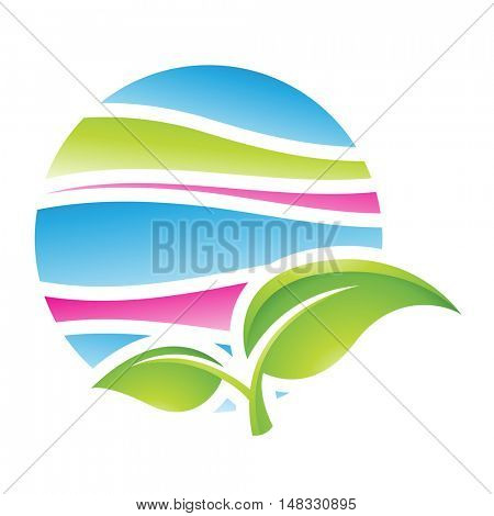 Illustration of Spring Season Icon isolated on a white background