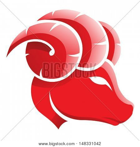 Illustration of Aries Zodiac Star Sign isolated on a white background
