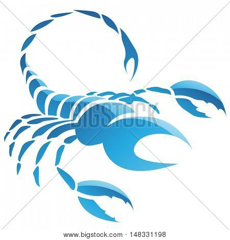 Illustration of Scorpio Zodiac Star Sign isolated on a white background