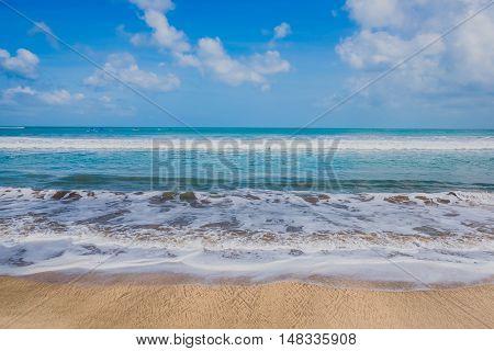 Dream beach at sunny day,The Kuta beach Bali Indonesia