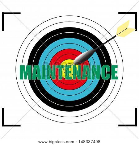 MAINTENANCE word Vector EPS 10, business concept.