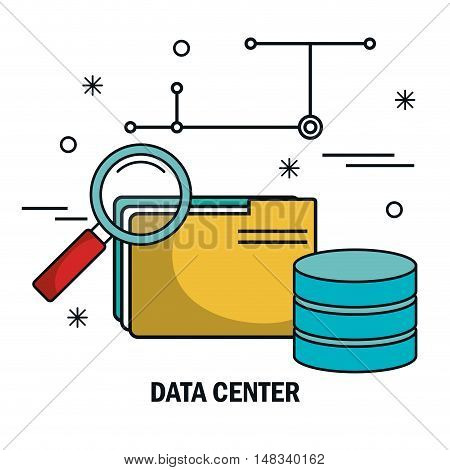 file archive search data server isolated vector illustration eps 10