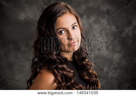 Woman Teenager Girl Hair Style Fashion Portrait.