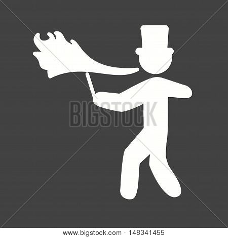 Fire, spitting, circus icon vector image. Can also be used for circus. Suitable for use on web apps, mobile apps and print media.