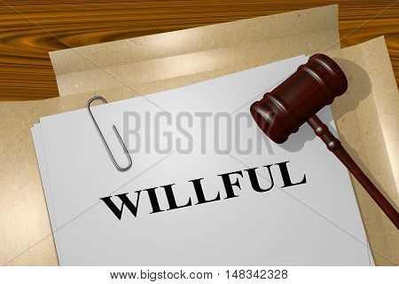 Willful - Legal Concept