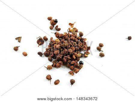 Sichuan or szechuan peppercorns - isolated studio shot