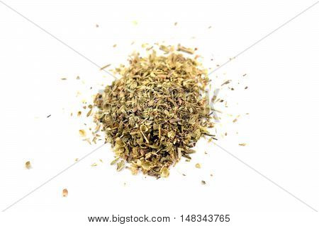 Pile Of Dried Oregano