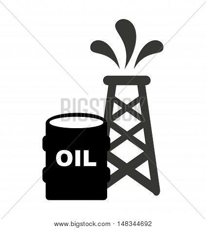 barrel petroluem industry icon vector illustration design