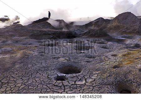 Volcán en Cordillera de lo Andes Bolivia