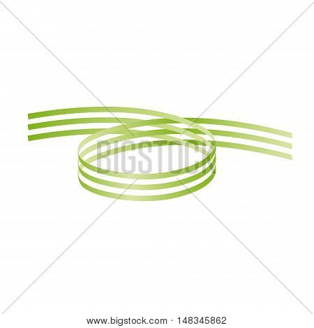 Vector Green Rings Background isolated in white