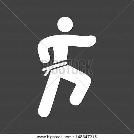 Karate, martial, uniform icon vector image. Can also be used for people. Suitable for web apps, mobile apps and print media.