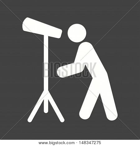 Sky, telescope, stand icon vector image. Can also be used for people. Suitable for use on web apps, mobile apps and print media.
