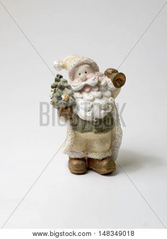New Year and Christmas mood. Santa Claus. A toy