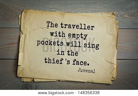 TOP-20. Aphorism by Juvenal - Roman satirical poet.