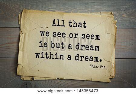 TOP30 Aphorism by Edgar Allan