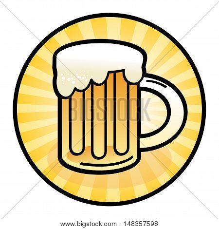 Beer mug sign or symbol, vector illustration