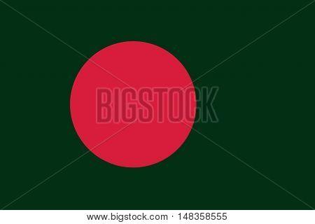 Bangladesh flag ,Original and simple Bangladesh flag
