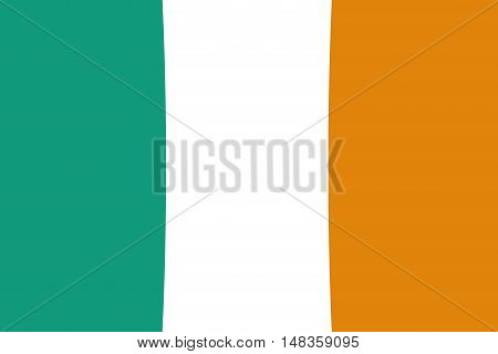 Ireland flag ,original and simple Ireland flag