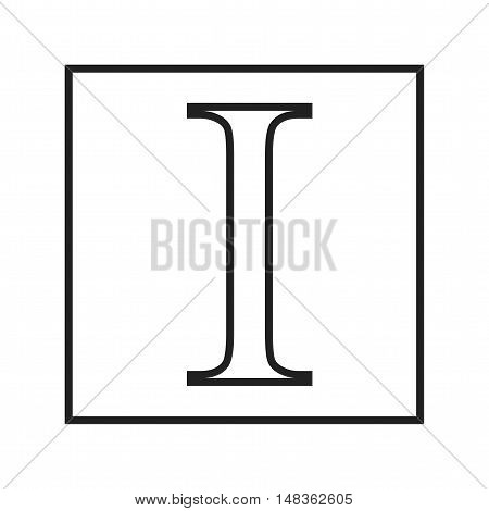 Instapaper, web, screen icon vector image. Can also be used for social media logos. Suitable for mobile apps, web apps and print media.