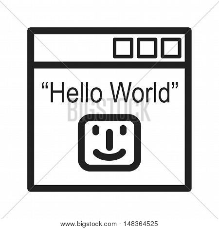 Digital, binary, program icon vector image. Can also be used for software development. Suitable for mobile apps, web apps and print media.