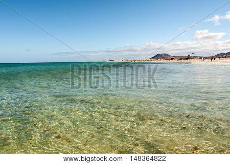 Corralejo Beach on Fuerteventura Canary Islands Spain