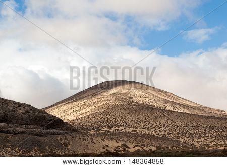The desert landscape Costa Calma on Fuerteventura. Canary Island. Spain
