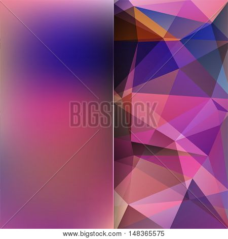Abstract Background Consisting Of Purple Triangles And Matt Glass