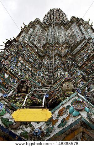 Asia  Thailand Bangkok Sunny  Temple Step Fear