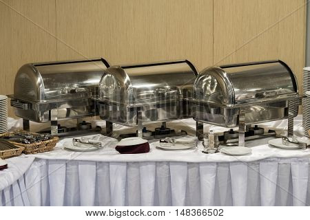 Catering food at a hotel hall
